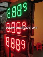 "led gas price digital display,10"" 8.888 Blue led petrol price display for gas station Gas\Oil\Petrol\Fuel price"