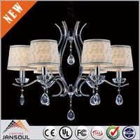 contemporary chrome chandelier crystal room lighting lamp