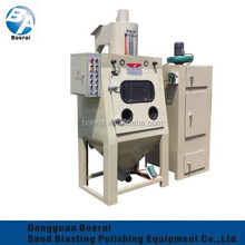 roller sandblasting machine for single-piece or batch production of small or medium sized products.