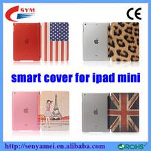 HOT SELLING!!!Newest for ipad mini case PU+PC flip case for apple ipad mini