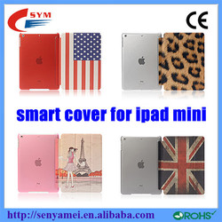 HOT SELLING!!!Newest for ipad mini case PU+PC flip case for apple ipad mini