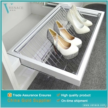 Cheap price shoe storage furniture iron bedroom pull out shoe rack fittings