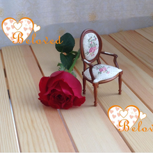 1/12 scale wood dollhouse antique miniature chair toys furniture