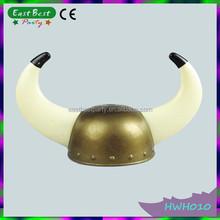 Wholesales Cheap Devil Horn Viking Helmet Warrior Halloween Hat