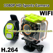 High Quality full hd 1080p Action Camera, 30m waterproof camera with 170 wide angle
