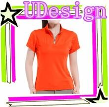 Good quality dry fit polo shirt womens bright color polo shirt polyester polo shirt