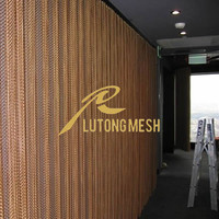 Metal coil drapery for decorative exhibition halls partition,screen