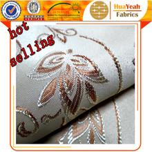 100% Polyester flower design jacquard decorative curtain