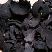 charcoal in coconut shell