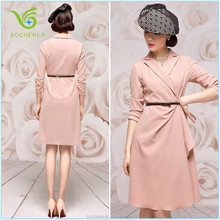 New trendy formal women lady latest simple of dresses