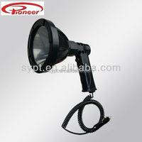 Super bright 12v LED,HID,Halogen handheld spotlight, searching light,hunting light