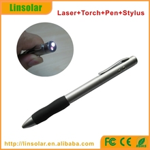 stylus ball pen with led light and red laser 4 in 1 Stylus pen laser pointer pen