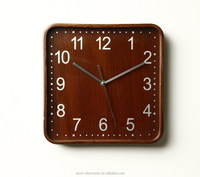 Radio controlled wall clock /real wooden wall clock/Promotional gift