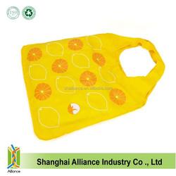 Lemon phote printed fashion girl handheld shopping bag portable folding bag