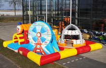 hot-sale factory inflatable super playzone, inflatable sport game zone
