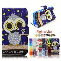 pu leather flip cover case for lg t375