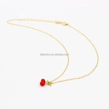 Fashionable fruit shape wholesale pendant necklace strawberry, cherry, pineapple, apple shape necklace