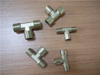nickel plated brass male and female tee brass pipe fitting