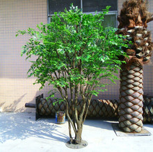 artificial green color ficus tree small decorative banyan tree for indoor