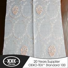Newest popular flower pattern ready made window curtains