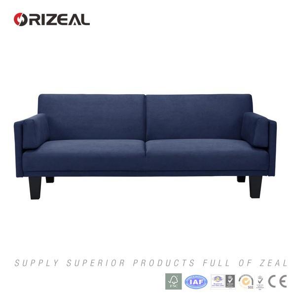 navy blue futon sofa bed convertible folding sofa cum bed