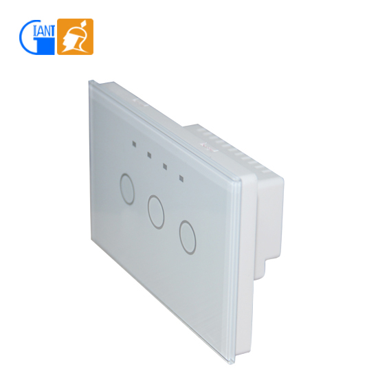Wall Light Switches Us : Smart Home Us Standard Modern Led Digital Touch Dimmer Wall Light Switch Glass Screen Panel ...