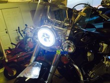 """Newest harley 5.75"""" round headlight led high low beam headlight for harley motorcycle"""