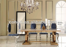 2015 popular furniture gold marble dining table in good taste 6130G