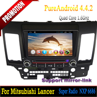 Mitsubishi lancer android 4.4.2 dvd with bluetooth 4 core mirror-link hotspot gps radio 2006 2007 2008 2009 2010 2011 2012
