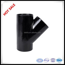 Carbon steel equal Y Tee, y branch pipe fitting