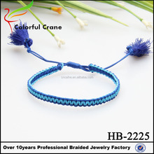 Factory cheap price new arrival women colorful fashion braided knot bracelet