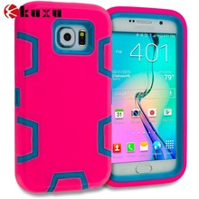 2015 unique funky hot pink & Baby Blue Hybrid pc tpu mobile phone case for samsung galaxy