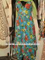 impreso de algodón de cuello halter vestido floral minorías étnicas minorías étnicas printprint larga de algodón jaipur e