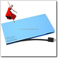Built-in Micro USB Cable high quality power bank 5000mah mobile power pack mobile battery charger