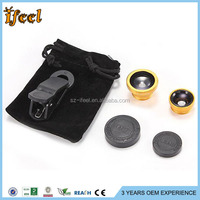 Universal 3 In 1 Fisheye Lens+Micro Lens+Wide Angle Lens Kit Set For Iphone 4S 5 5S