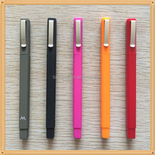popular plastic rubber square pen for hotel gifts