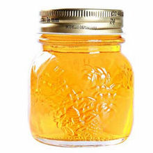 glass bottles with lids honey jars
