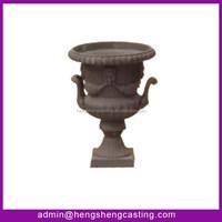 Antique garden cast iron head fish flower pot