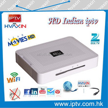Wifi , youtube, VOD moives , Android ,Full hd picture hot selling Indian iptv live 120 tv channels , indian iptv box for USA