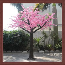 Artificial pink high simulation outdoor LED cherry blossom tree for decorative christmas tree light