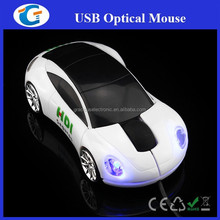 Custom logo printing 3d wired car mouse for promotional gifts