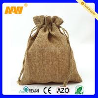Drawstring small jute pouch custom jute bag wholesale