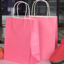 OEM Customize promotion shopping white kraft paper bag