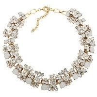 New Double Layer Crystal Stone Flower Collar Fashion Stretch Necklace