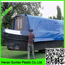 300g/sm blue PE tarpaulin for truck covering/anti rain fire resist outdoor used woven tarpaulin/uv treated camping tent