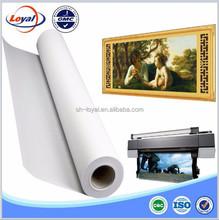 Waterproof digital inkjet printing polyester glossy canvas