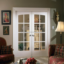 8 lites Double Clear Glass Sliding French Patio Doors