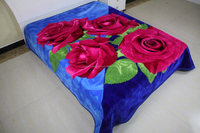 High Quality Polyester Polar Raschel Fleece Blanket for Quit Factory Made in China