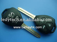 Toyota remote key toy43 no logo,Camry 3 buttons remote car key case wholesale