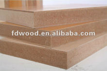 18mm Both sides wood grain decorated paper laminated Melamine MDF